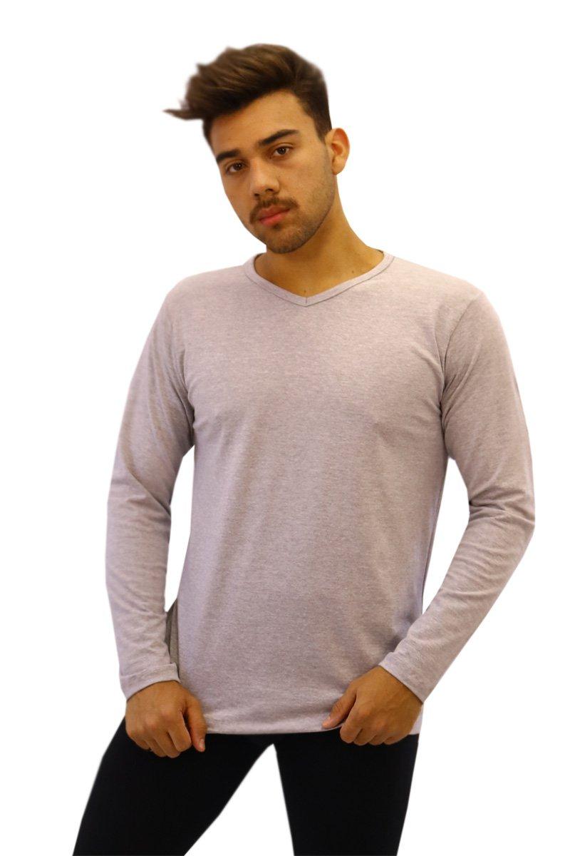 731245570f Camiseta Manga Longa Algodão Com Elastano